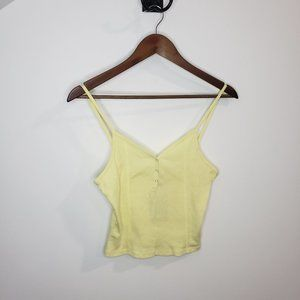 NWT Suite Benedict Cropped Spaghetti Yellow Tank